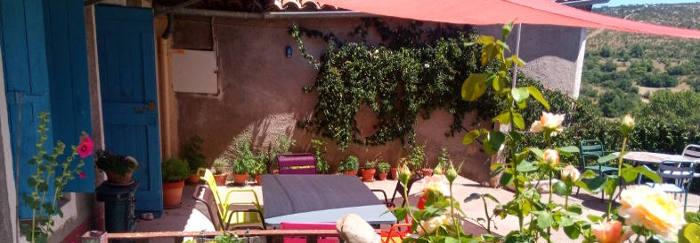La terrasse des chambres d'hôtes